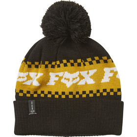 Fox Overkill Beanie Heren, black/yellow